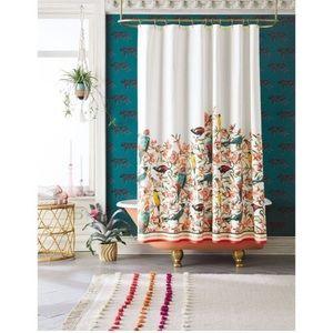 OPALHOUSE Flora/Bird Shower Curtain